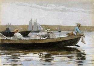 Boys in a Dory, 1873. Creator: Winslow Homer.