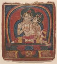Initiation Card (Tsakalis): Vairochana, early 15th century. Creator: Unknown.