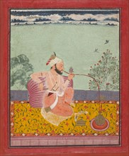 A Raja Smoking a Hookah, ca. 1690-1710. Creator: Unknown.