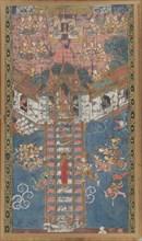 The Buddha Descending from Trayastrimsa Heaven at Sankissa, 19th century. Creator: Unknown.
