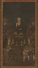 Shaka, Monju, Fugen and the Ten Great Disciples (Judai Deshi), 14th century. Creator: Unknown.