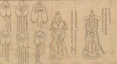 Scroll of Mudras, 11th-12th century. Creator: Unknown.