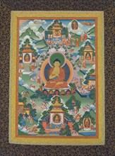 Buddha Seated on a Lotus Pedestal, 19th century. Creator: Unknown.