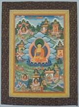 Tangka with Buddha, 19th century. Creator: Unknown.