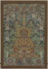 Buddha Within a Stupa, 16th-17th century. Creator: Unknown.