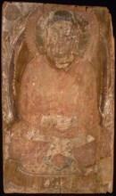 Buddha with a Halo and Flaming Body Mandorla, 6th-7th century. Creator: Unknown.