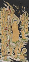 Buddha and Attendants, 17th-18th century. Creator: Unknown.