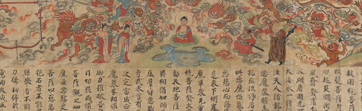 Scene from The Illustrated Sutra of Past and Present Karma..., late 13th century. Creator: Unknown.