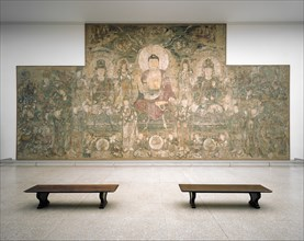 Buddha of Medicine Bhaishajyaguru (Yaoshi fo), ca. 1319. Creator: Unknown.