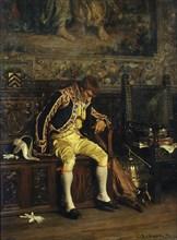 A Footman Sleeping, 1871. Creator: Charles Bargue.