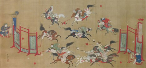 Tartars Playing Polo, early 18th century. Creator: Kano Eisen'in Furunobu.