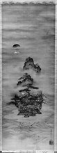 Isle of Immortals with Flanking Chinese Landscapes (Eight Views of Xiao and Xiang), 19th century. Creator: Kano Tansui.