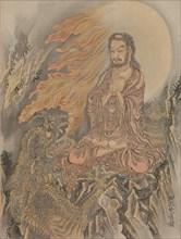 Shakyamuni Conquering the Demons (Shaka Goma-zu), ca. 1888. Creator: Kawanabe Kyosai.