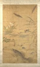 Flowers, fish, and crabs, mid-16th century. Creator: Liu Jie.