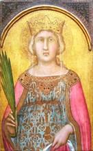 Saint Catherine of Alexandria, shortly after 1342. Creator: Pietro Lorenzetti.