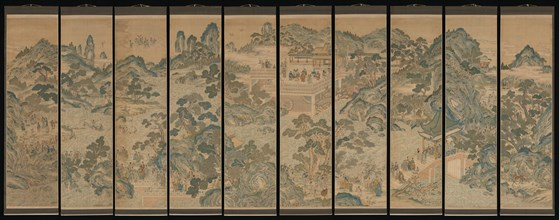 Mythical landscape with immortals, 19th century. Creator: Unknown.