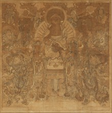 Amitabha Buddha?s assembly in the Western Paradise , late 18th-early 19th century. Creator: Unknown.