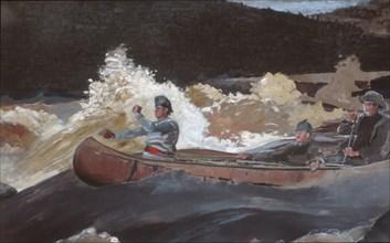 Shooting the Rapids, Saguenay River, 1905-10. Creator: Winslow Homer.