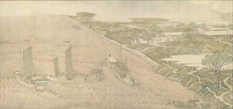 The Qianlong Emperor's Southern Inspection Tour, Scroll Four: The Confluence of the Huai..., 1770. Creator: Xu Yang.