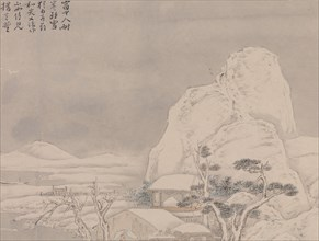 Snowscape, from Album for Zhou Lianggong , undated. Creator: Ye Xin.