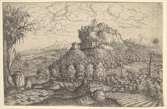 Landscape, 1553. Creator: Hans Sebald Lautensack.