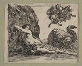 Persée et Andromede, 1644. Creator: Stefano della Bella.