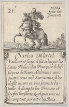 Charles Martel / Vaillant et sage..., from 'Game of the Kings of France'