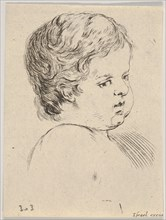 Plate 12: head of a child, from 'The Book for Learning to Draw'