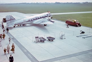 A Douglas DC-3, DDL's Sten Viking at Bulltofta Airport, Malmo, Sweden, 1960s. Creator: Unknown.