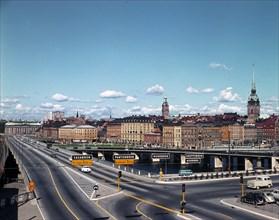Central bridge, Stockholm, Sweden, 1960s. Creator: Unknown.