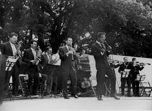Sammy Davis Jr, USAF Base Lakenheath, Suffolk, 1960. Creator: Brian Foskett.