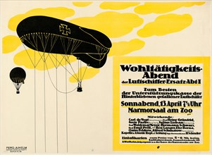 Charity Evening of the Airship Replacement Dept. I , 1918. Creator: Oppenheim, Louis