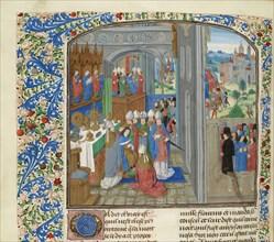 Coronation of Charles III of Navarre in Pamplona, ca 1470-1475. Creator: Anonymous.