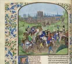 Arrival of Duke Louis II of Anjou in Paris, ca 1470-1475. Creator: Anonymous.