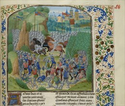 The Battle of Otterburn on August 1388, ca 1470-1475. Creator: Anonymous.