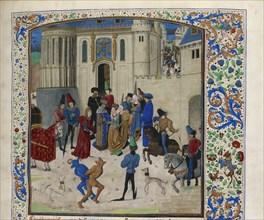 Arrival of Isabeau de Bavaria in Paris, ca 1470-1475. Creator: Anonymous.