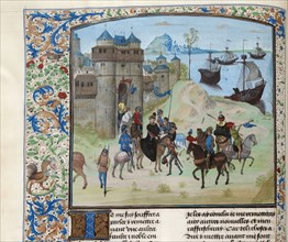 Departure of Duke Ludwig II of Bourbon from Genoa to Tunis, ca 1470-1475. Creator: Anonymous.