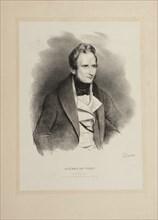 Portrait of the author Alfred de Vigny