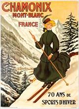 Chamonix Mont Blanc 70 Ans de Sports d'Hiver. Creator: Faivre, Abel