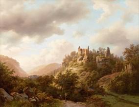 View of Larochette Castle , 1848. Creator: Koekkoek, Barend Cornelis