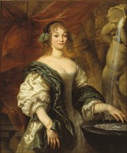 Portrait of a young lady at a fountain, Second Half of the 17th cen.. Creator: Baen, Jan de