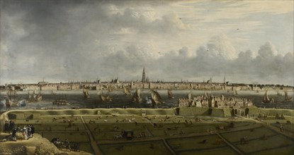 View of Antwerp from the Vlaams Hoofd, 1658. Creator: Anonymous.