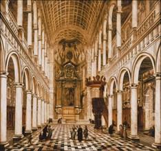 Interior of the Jesuit church in Antwerp, 1668. Creator: Ehrenberg, Wilhelm Schubert van