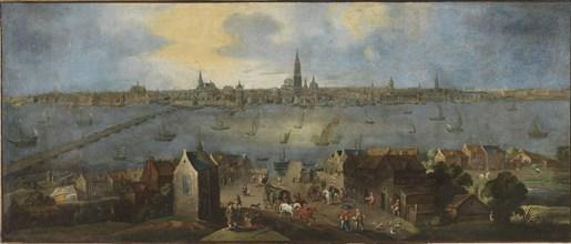 Gezicht op de rede van Antwerpen, Between 1682 and 1702. Creator: Schoevaerdts, Matthijs