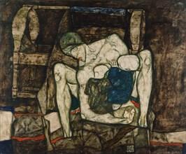 Blind mother, 1914. Creator: Schiele, Egon