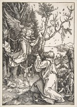 Joachim and the Angel, from The Life of the Virgin, ca. 1504. Creator: Albrecht Durer.