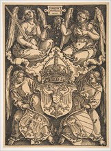 The Arms of the Holy Roman Empire and of the City of Nuremberg.n.d. Creator: Albrecht Durer.