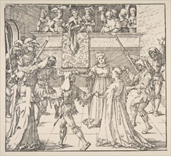 Masquerade Dance with Torches, 1922. Creator: Albrecht Durer.