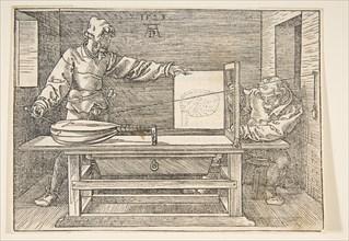 The Draughtsman of the Lute.n.d. Creator: Albrecht Durer.