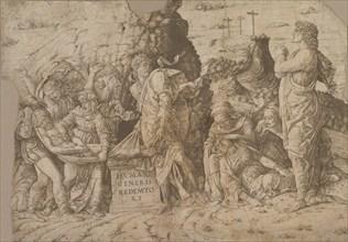 The Entombment of Christ, ca. 1465-75. Creator: Andrea Mantegna.